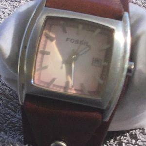 Women fossil Cuff Watch